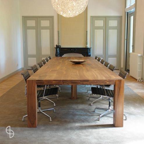 Eettafel glas hout