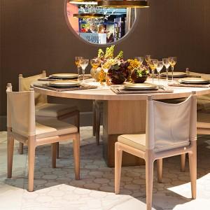 ronde houten tafel kops van rossum