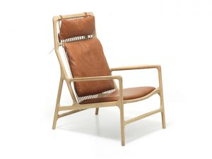 Dedo lounge chair Gazzda houten design stoel
