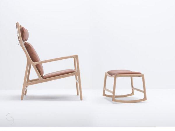 Dedo stoel fauteuil Gazzda met voetenbank