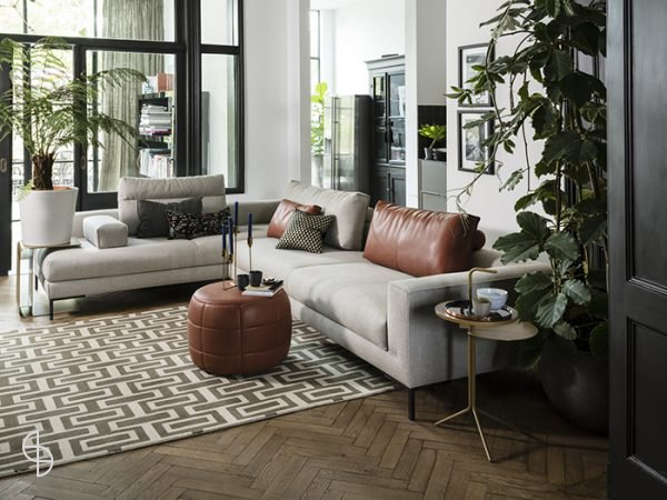 Design on stock aikon lounge stof milton met leer