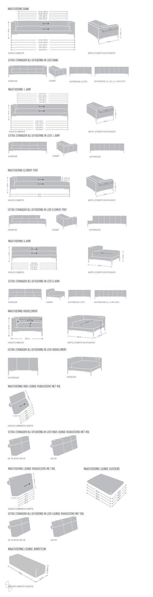 design on stock aikon loungs afmetingen