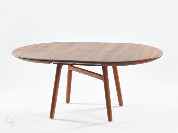 artisan dash uitschuiftafel rond noten hout