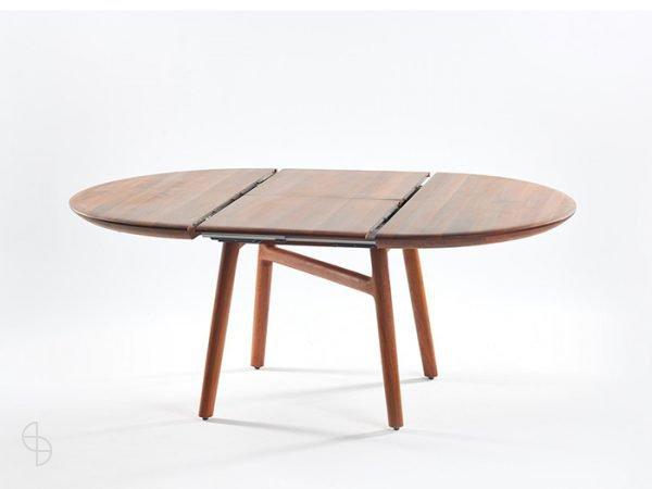 dash elegante uitschuifbare ronde tafel notenhout of eiken spinde next zwolle