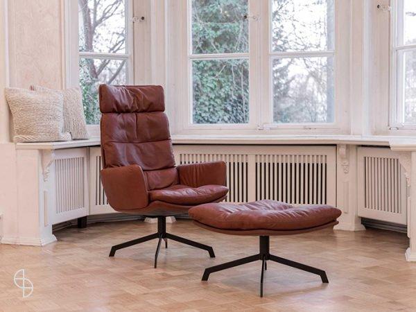 KFF Arva fauteuil draai leer zwolle