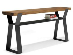 Qliv zwolle wandtafel side to side staal hout