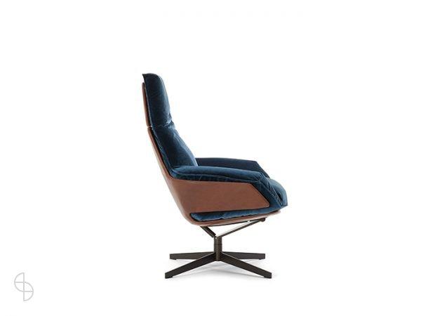 Daron fauteuil leer verlours bw Bielefelder Werkstatten