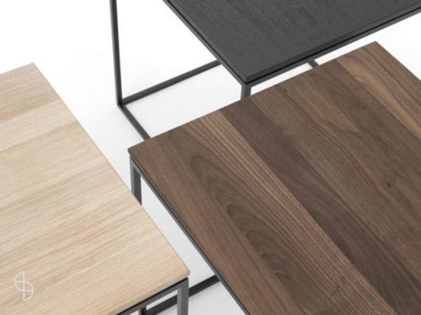 kluskens tafels shadow hout metaal
