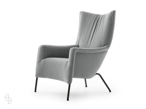 Pode fauteuil transit two in stof zijkant