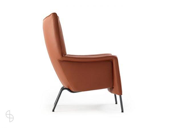 Pode transit two hoge fauteuil cognac leer 2