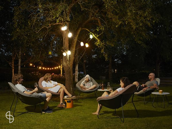 Label Hidde outdoor stoel terra kleur stof